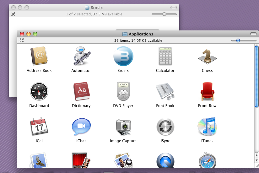 Brosix in Applications folder.