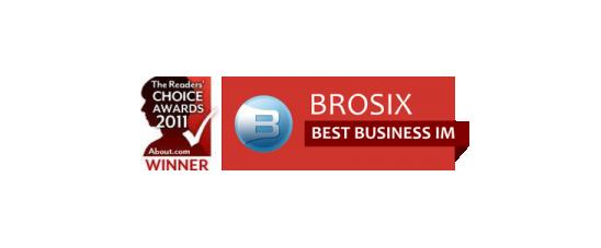 Brosix Best Business Solution in 2011 IM Awards