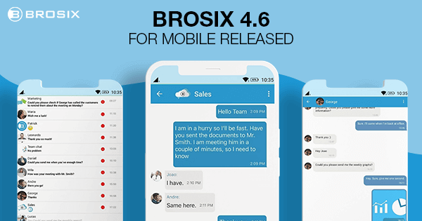 Brosix 4.6 for mobile