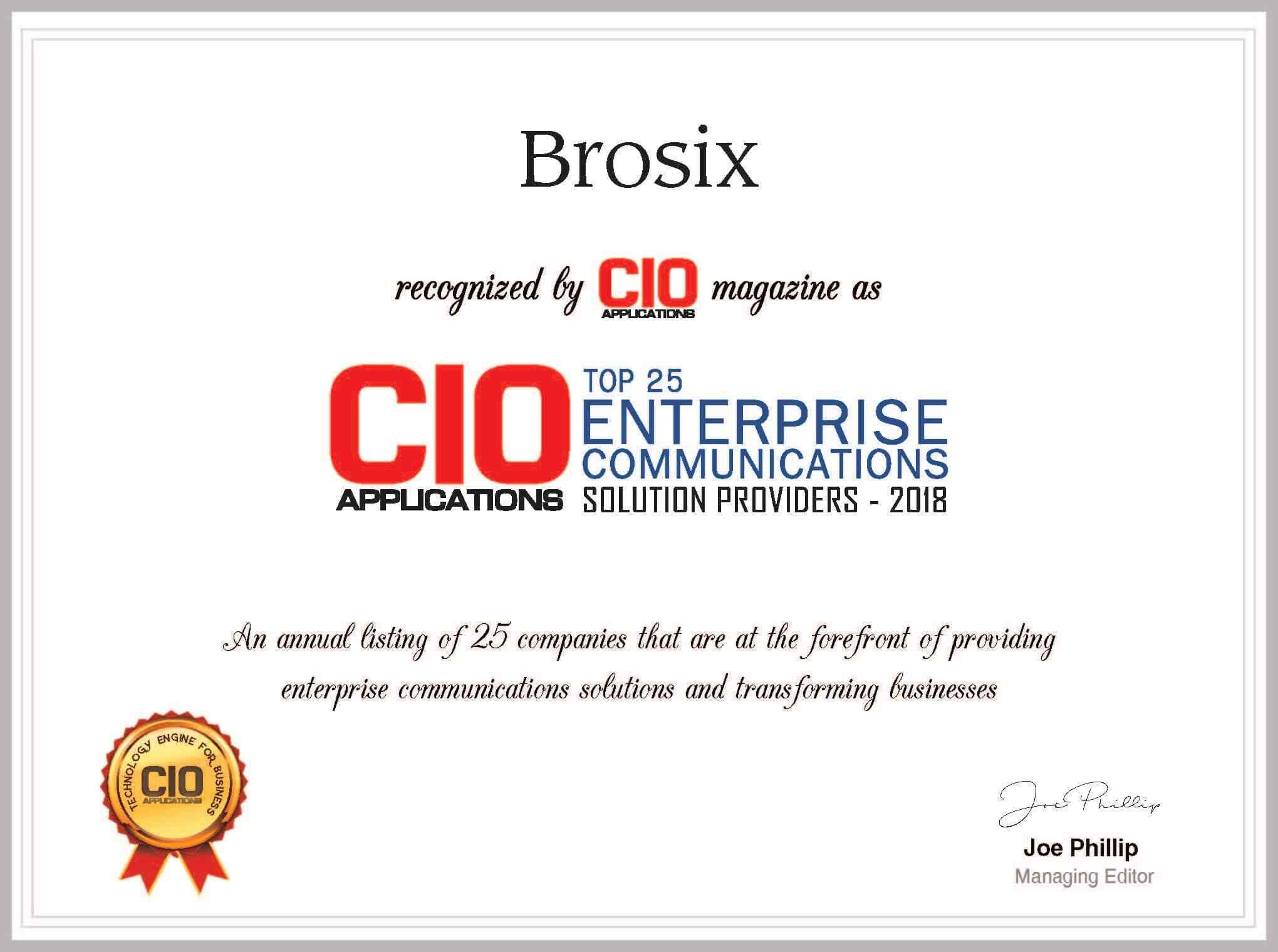 Brosix among one of 25 enterprise communication solutions