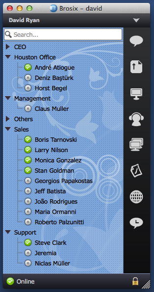 Contacts List on Mac