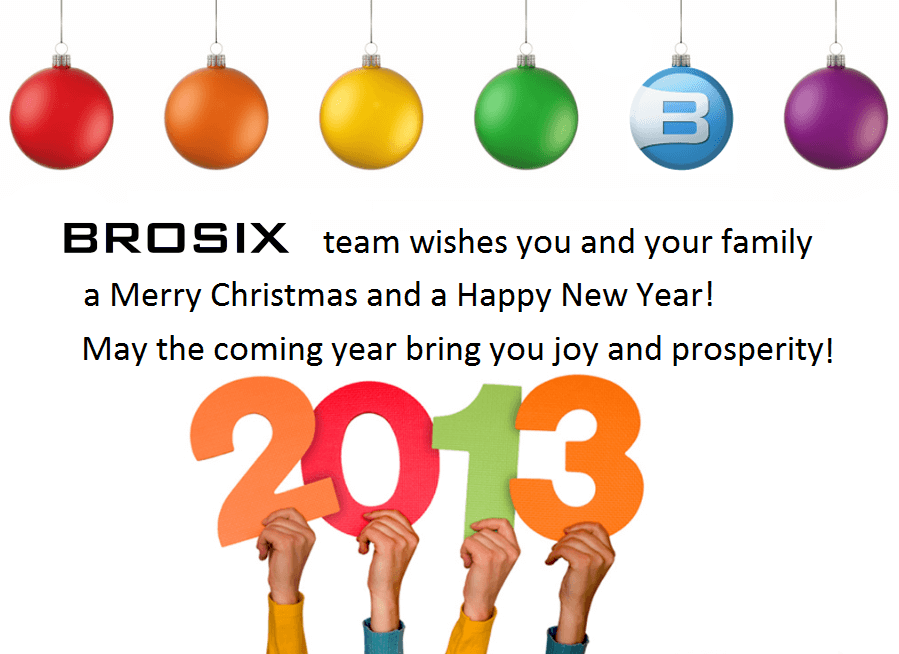 Brosix wishes you Merry Christmas and Happy New 2013 Year