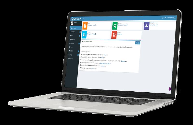 Brosix Web Control Panel Administration Screen