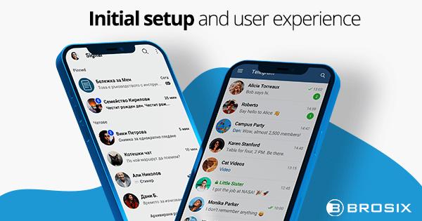 Signal vs Telegram - Initial setup and user experience