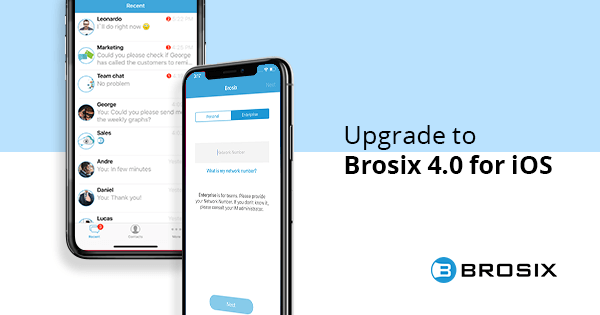 Brosix with a new app for iOs