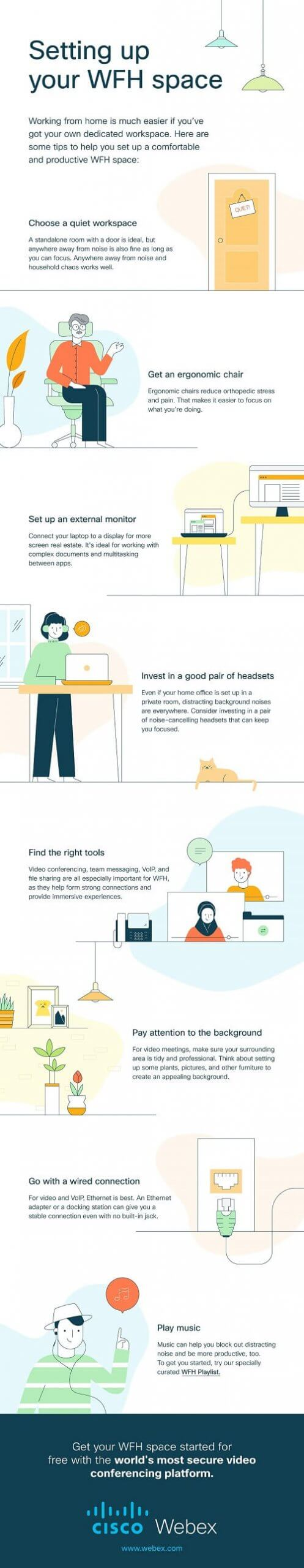 Work from home infographic