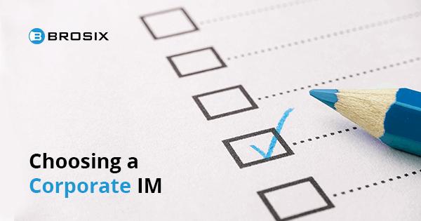 Corporate IM Checklist