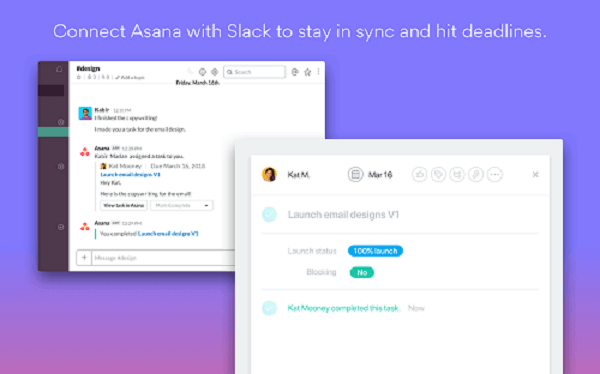Slack integration with Asana