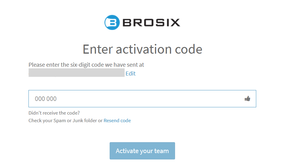 enter activation code for your network
