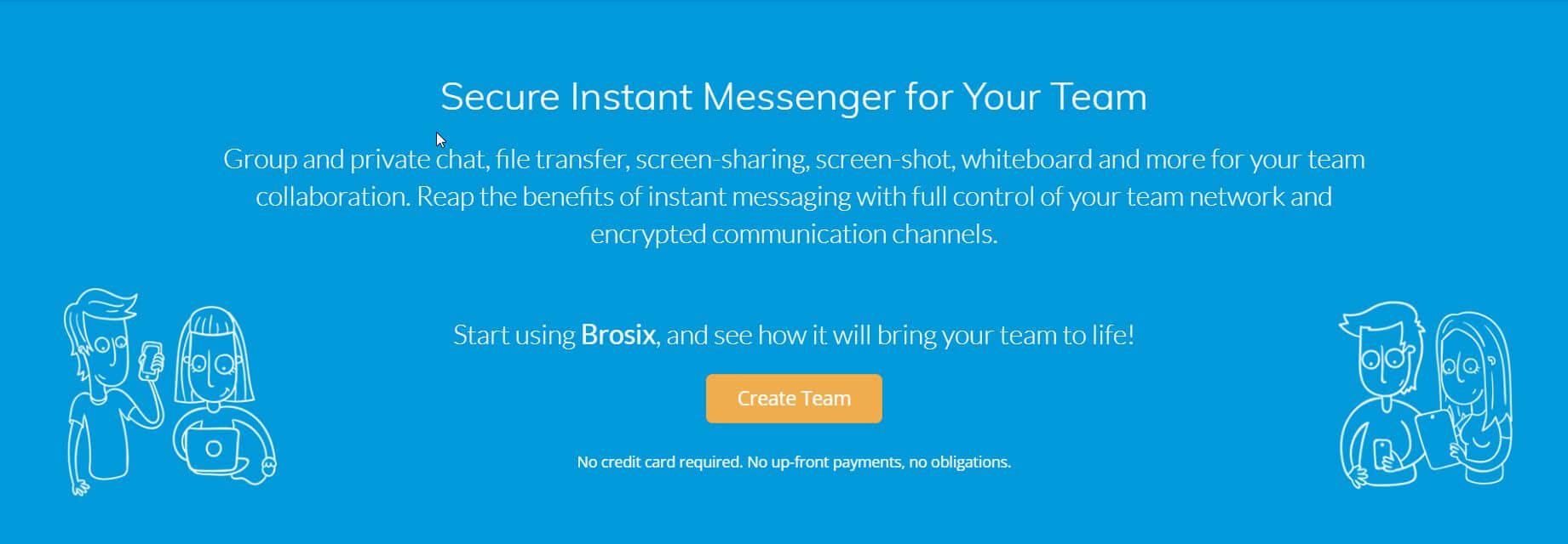 Brosix homepage