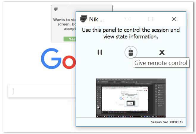 Screen - sharing control