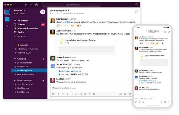 slack chatting app